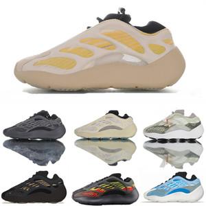 Azael Kanye mujeres para hombre a base de azul nueva de los zapatos corrientes West Srphym Alvah Negro Gris Amarillo Crema 700V3 Azarath Eremiel zapatillas de deporte Tamaño de los EEUU 5 por Estados Unidos 12