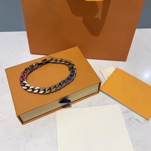 Bracelet de couleurs Bracelet en or et argent Bracelet Bracelet Mode Bracelet Unisexe Chaîne en acier inoxydable de haute qualité