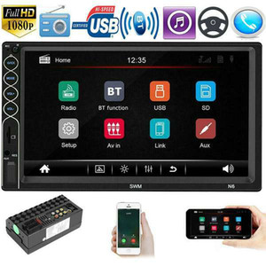 Double Din Car Radio with Backup Camera 7 Inch Touch Screen 2 Din Car FM Stereo MP5 Player Car Audio Receiver Autoradio
