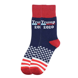 Women Men's Unisex High-Heeled Cotton Socks Trump Personalized Letters Casual Sports Socks American Flag Striped Socks boom LJJA1504-1