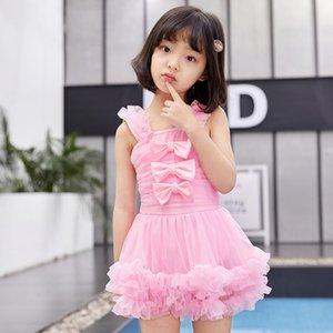 natação ePC3Z 2020 novas garotas Pengpeng saia maiô Swimsuit rendas Pengpeng saia de uma peça breifs plissado ampla tiracolo primavera quente