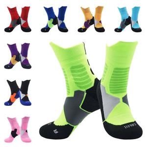 Новый стиль Дети баскетбол носки Профессиональные чулки Baseball носки высокого качества противоскольжения Пот-абсорбционный Запуск носки чулок
