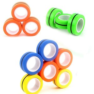 Stress Relief Magnetic Ring Decompression Finger Toys Reliver Anti-stress Spinner For Adults Kids Christmas Gifts 3Pcs Set Sold by Trust_sel