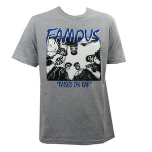 Famous Stars Straps Swa Heather gris Gangster Squelettes T-shirt S-xxl Nouveau T-shirts Hipster refroidissent O Tops cou