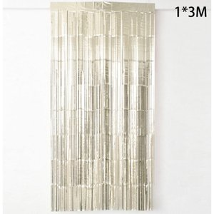 100*300cm Shiny Fringe Curtain Wall Door Room Decoration Wedding Birthday Party Background Wall Decor Gorgeous Banquet PET