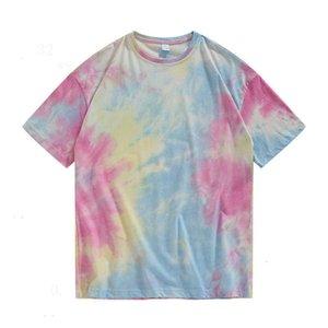 Männer Designer-T-Shirts aus 100% beiläufige Kleidung Stretchds Kleidung hjmjgbnb Naturfarbe Schwarz Baumwolle Kurzarm Multi-Farb-Mix
