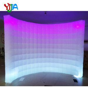 موضوع LED تغيير لون 10FT حفل زفاف صور بوث خلفية نفخ ستريت مع LED شرائط الأعلى والمبيعات جدار القاع