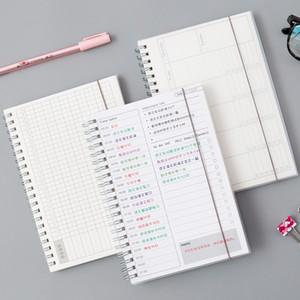 Notepades Daily Weekly Weekly Mensuel 2021 Planificateur Spiral A5 Temps Notebook Mémo Planification Organisateur Organisateur Organisation Scold Office Calendrier Stationnaire