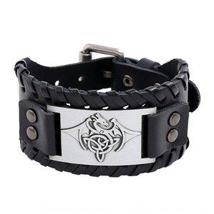 2020 Nouveau tissé homme en cuir punk 2020 Accessoires cowhide Nouveau tissé bracelet accessoires vachette bracelet en cuir hommes punk qmhO5