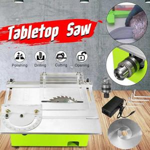 Mini-Tisch Sägeblatt Handgefertigte Holzbearbeitungsdrehbank elektrische Schneide Schleifen Polieren Schnitzen Maschine DC 12V 24V 9Zpi #