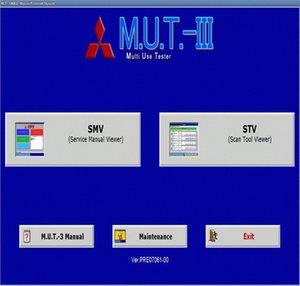 M.U.T. III PRE17091 Diagnostic Software 09,2017 Para Mitsubishi n3ql #