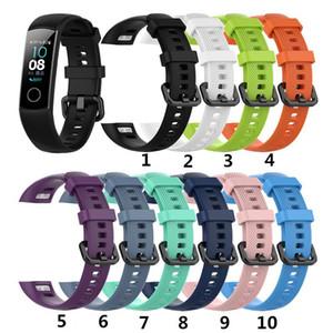 Cgjxs New Ersatz Silikon-Armband für Huawei Honor Band 4 5 Smart-Armband-Bügel-Silikon-Uhrenarmband Smart-Armband