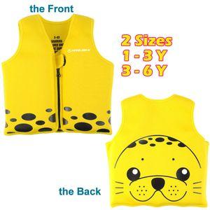 Cartoon Seal Bambino Life Vest bambini Nuoto Giacca Costumi da bagno per la sicurezza di galleggiamento neoprene Giubbotto ragazze dei ragazzi della Gioventù