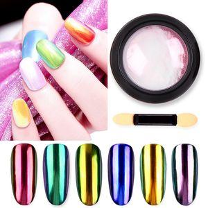 0.2g Laser Nail Glitter Powder Unicorn Holographic Nail Powder Glitter Holo Rainbow Chrome Mirror Powder Dust Pigment Chrome