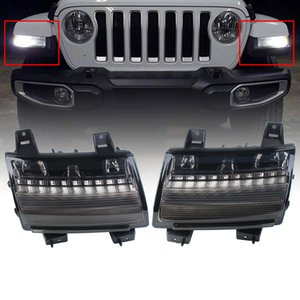 Front Fender Led White Daytime Running Amber Turn Signal Lights for Jeep Wrangler JL 2018 USA EUR version Low Configuration