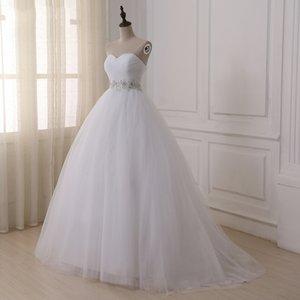 Jiayigong stock Vestidos de novia Real Vestidos De Novia Sweetheart Sweep Train Encaje Aplique Corset Vestido de novia Robe de Mariage