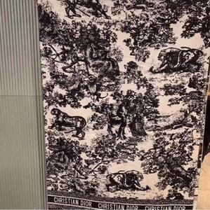 Animal cachemire di marca sciarpa 2020 alto Qualtiy di stampa per le donne di lusso del progettista Sciarpe con filo d'argento scialli Wrap