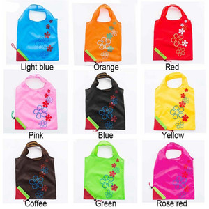 Strawberry Folding Shopping Bags 11 Colors Home Storage Bag Reusable Grocery Tote Bag Portable Folding Shopping Convenient Pouch TQQ BH2190