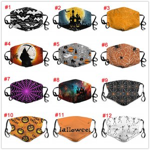 3D Design Halloween Face Mask Fashion Printed Cotton Masks Breathable Reusable Washable Face Mask DHL Free Shipping