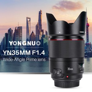 YONGNUO YN35MM F1.4 Obiettivo grandangolare per obiettivo Canon 600D 60D 5DII 5D 500D 400D per Canon brillante Apertura Prime DSLR Obiettivi