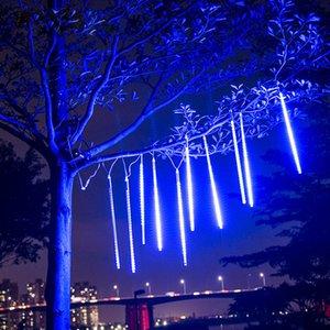 ANTINIYA 30 / 50cm Douche Meteor imperméable pluie 8 LED Tube de lumières pour l'extérieur de vacances Décoration de Noël Arbre EU / US Plug