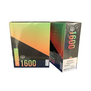 PUFF XXL 1600 Puffs Acessos dispositivo descartável Vape caneta pré-cheia vapores e Cigs Cigarros portátil Starter Kit do sistema com código de segurança