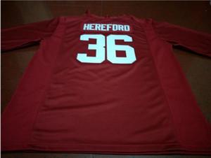 Männer Jugend Frauen # 36 Mac Hereford Alabama Crimson Tide Football Jersey Größe s-5XL oder benutzerdefinierten beliebigen Namen oder Nummer Jersey