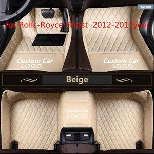 Rolls-Royce Phantom 2012-2017year için uygun Terzi yapılan araba paspas su geçirmez PU deri malzeme,