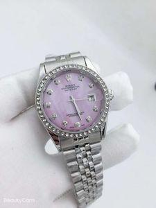 Rhinestone de las señoras de acero inoxidable Logo 30m impermeable de lujo del reloj del reloj de señoras unisex Relogio Masculino RELOJ reloj de cuarzo