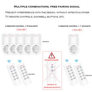 SMATRUL 무선 원격 제어 스마트 Soet 유럽 연합 (EU) 영국 프랑스어 플러그 벽 433MHZ 프로그램 콘센트 스위치 220V 230V LED