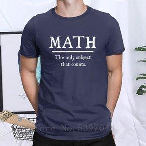 Matemáticas El único tema que corta la manga Condes camiseta de los hombres de maestro Escuela matemático ropa de algodón camisetas más el tamaño de la camiseta