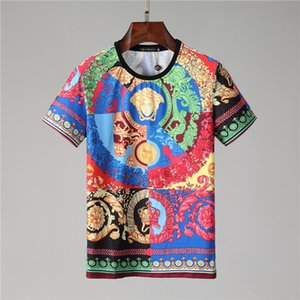 Мужчины поло хлопок короткий рукав 19 Мода бренд мужской и короткий рукав футболки печать высокого качества хлопка человек маленький монстр смешные глаза женские