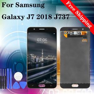 """5.5"""" Orijinal İçin Samsung Galaxy J7 2018 J737 LCD Ekran Sayısallaştırıcı Ekran Yedek teker teker test"""