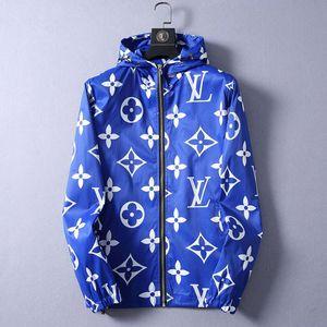 С капюшоном Ветровка на молнии Tracksuit мужские куртки пальто осень Тонкий Верхняя одежда Стилист Куртки Мужчины Женщины Дизайнерская куртка пальто