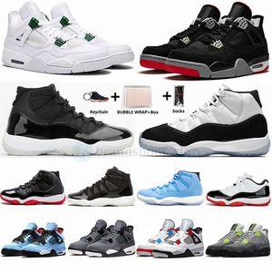 Nike Air Jordan 2020 Black Cat Retro 4 4s White Cement What The Travis Scotts Grey Mens scarpe da basket UNC Bred 11 11s Concord Uomini Sport Sneakers Designer