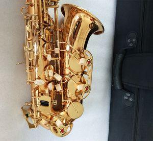 YANAGISAWA High quality Japan Alto Yanagisawa A-992 Eb Lacquer Gold plated alto saxophone Musical instrument professional