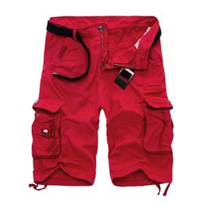 Mens Cargo Shorts 2020 nuovo camuffamento dell'esercito Shorts cotone sciolto lavoro Pantaloni di scarsità casuale più Dimensioni nessuna cinghia