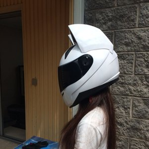 Sevimli Kedi Beyaz Kask Açık Yüz Motokros Kask Unisex Motosiklet Capacetes De motociclista Yenilik Casque