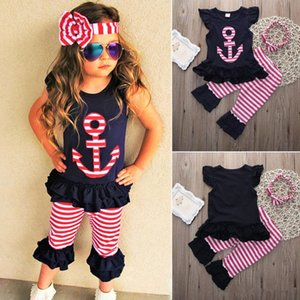 Baby Girl Clothing Set Kids Toddler Outfit Boutique Clothes Suit Black Shirt Shorts Pants Headband Summer Tracksuit Playsuit