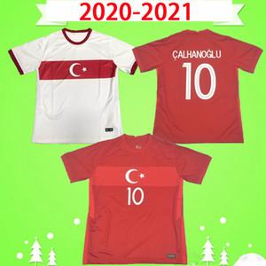 2020 2021 2022 Türkei Fußballtrikots 20 21 22 Yazici Caglar Söyünzünen Demiral Ozan Kabak Calhanoglu Celik Home White Red Football Hemden