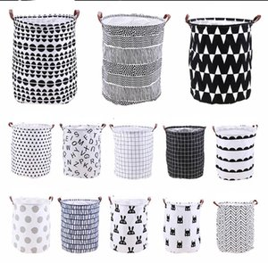 INS lattice letter printing Storage Bags cartoon Handbags Kids Toys,Dirty clothes basket 40*50cm C3410