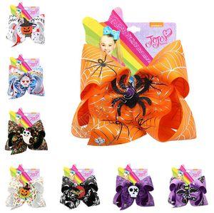 7inch grande épingle à cheveux arc Halloween épingle hairbows araignée chauve-souris fantôme citrouille d'horreur filles Barrettes bébé Barrettes Party cheveux D82004 Boutique