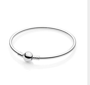 The new korean style European bracelet with new heart-shaped round buckle for DIY charms bangle braceletsps2361