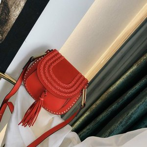 Classic hot fashion style woman bag suede leather with leather lady cross body have rivet tassel Woman dress bag vuK
