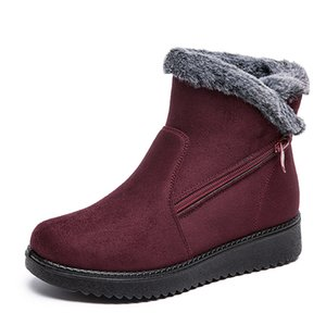 Velvet Winter Boots Women Lightweight Cotton Shoes Zip Up Ankle Bootie Girl Waterproof Warm Outdoor Shoes for Cold Weather