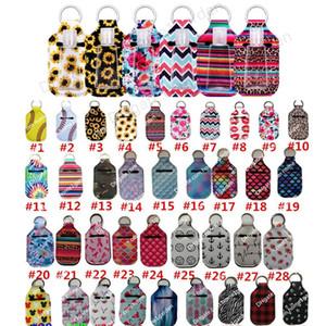 Hand Sanitizer-Halter Keychain Handgel Holders 30ml Neopren mit Sanitizer Flaschen Halloween und Weihnachten Patterns 153 Farben