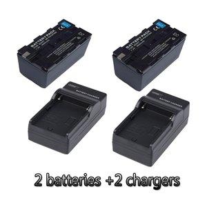 NP-F970 NP-F960 리튬 배터리 충전기 + 2 링 램프 FE480 FD480 FS480 LED 램프 용 F970 6600mah 카메라 배터리