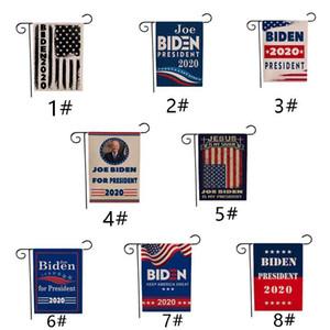 30 * 45CM Biden Garden Flag 2020 New Amercia Präsident Kampagne Banner Supportor Polyester Stoff Biden Flaggen VT1447 Banner Logo Print