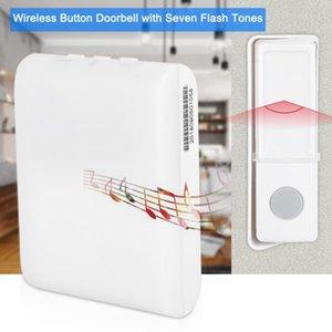 Беспроводная кнопка дверного звонка пациента Пожилой Глухой Caller с 7 видов флэш-Lamp Color Tones тембром inalámbrico внешней deurbel