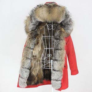 OFTBUY 2020 Long Waterproof Parka Natural Raccoon Fox Fur Real Fur Coat Hood Winter Jacket Women Outerwear Streetwear Detachable